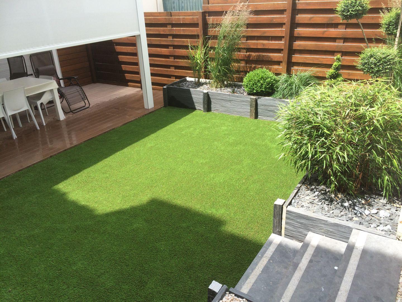 Gazon Synthetique Sur Terrasse Bois ledoux jardin, cultur design, référence dans l'aménagement