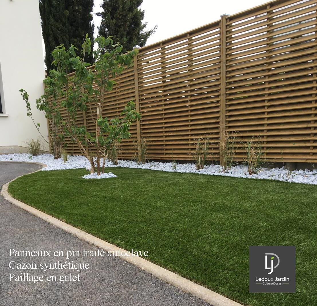 Ledoux jardin - clôture